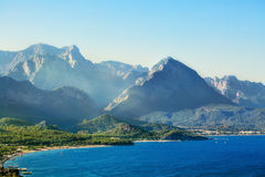 Mountain and sea Royalty Free Stock Photography