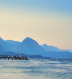 Mountain and sea Royalty Free Stock Image