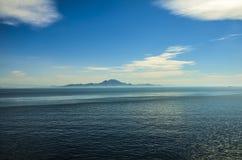 MOUNTAIN AND SEA Stock Photo