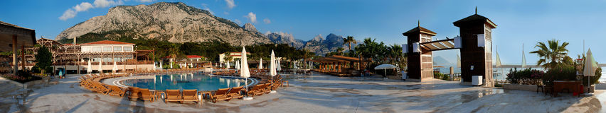 Mountain & Sea on Antalya. Nice panorama from Antalya with mountains ans sea Royalty Free Stock Images