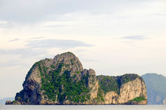 Mountain in the sea. Royalty Free Stock Images