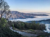 Mountain With Sea Of Fog Stock Photos
