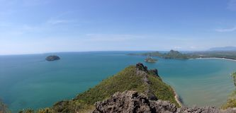 View. From the top of the mountain in Thailand stock photos