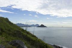 Mountain, sea and island Royalty Free Stock Image