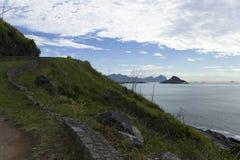 Mountain, sea and island Royalty Free Stock Photo