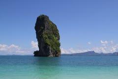 The mountain in sea krabi Stock Image