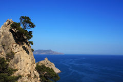 Mountain and sea landscape Stock Photography