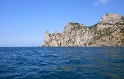 Mountain In The Sea Stock Photos
