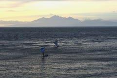 Mountain, Sea And Sunrise Royalty Free Stock Photos