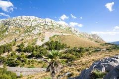 Mountain serpentine on Cap de Formentor - beautiful coast of Majorca, Spain - Europe. Royalty Free Stock Photography