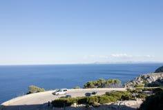 Mountain serpentine on Cap de Formentor - beautiful coast of Majorca, Spain - Europe. Mountain serpentine on Cap de Formentor - beautiful coast of Majorca Stock Photography