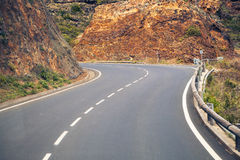 Mountain serpentine road Royalty Free Stock Image