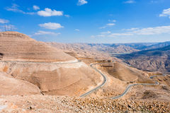 Mountain serpentine road, Jordan Royalty Free Stock Image