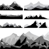 Mountain set Royalty Free Stock Images