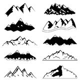 Mountain set vector illustration
