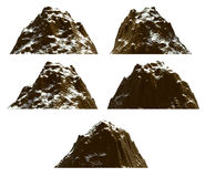 Mountain set , isolated Royalty Free Stock Image