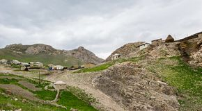 Mountain settlement, Azerbaijan, Quba region. Mountain settlement, houses of inhabitants, Azerbaijan, Quba region Stock Photography