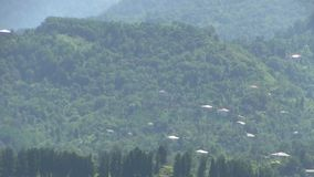 Mountain settlement stock footage