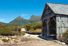 Mountain Shack. Cradle Mountain Shack in Tasmania, Australia Royalty Free Stock Images