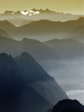 Mountain shades. Mountain edges with layers of shades royalty free stock photos