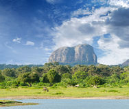 Mountain in the shape of an elephant figure Stock Photo