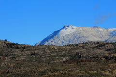 Mountain shaped by the erosion of a glacier, along Carretera Austral, Chile Royalty Free Stock Photography