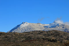 Mountain shaped by the erosion of a glacier, along Carretera Austral, Chile Stock Images