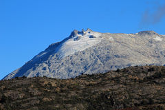 Mountain shaped by the erosion of a glacier, along Carretera Austral, Chile Stock Photo