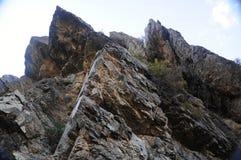 Mountain sharp peaks Stock Image