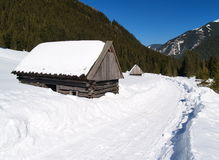 Mountain Shelter Royalty Free Stock Photography