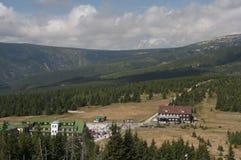 Mountain shelter in Karkonosze. Beautiful mountains in Poland during summer Stock Photo