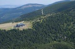 Mountain shelter in Karkonosze. Beautiful mountains in Poland during summer Royalty Free Stock Photos