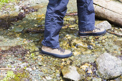 Mountain shoe Royalty Free Stock Images