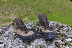 Mountain shoe. S on a commercial photo. Photo taken in Valea Gaura in Bucegi mountains, Romania Royalty Free Stock Image