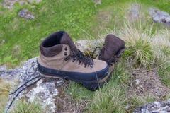Mountain shoe. S on a commercial photo. Photo taken in Valea Gaura in Bucegi mountains, Romania Stock Photography