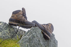 Mountain shoe. S on a commercial photo Royalty Free Stock Images