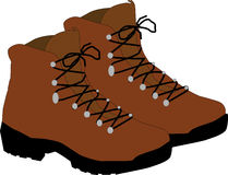 Mountain shoes Stock Image