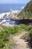 Mountain shore path Stock Photography