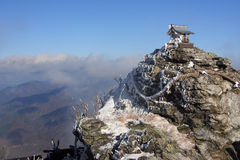 Mountain Shrine stock image