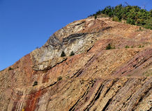 Mountain Side. Cut rock - mountain Royalty Free Stock Photography