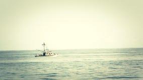 Fishing boat in Malibu stock video