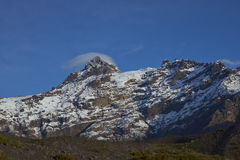 Mountain Sierra Velluda in Laguna de Laja National Park, Chile Royalty Free Stock Photo