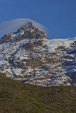Mountain Sierra Velluda in Laguna de Laja National Park, Chile Royalty Free Stock Images