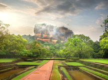 Mountain of Sigiriya Royalty Free Stock Images