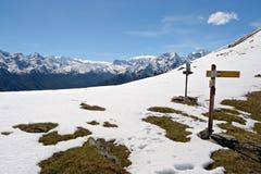 Mountain signposts Royalty Free Stock Photo