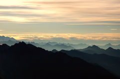 Mountain silhouette stock photography