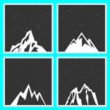 Mountain silhouette for stickers, badges, stamps, and labels vector illustration
