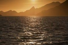 Mountain silhouette Stock Photography