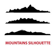 Mountain  silhouettes Stock Photography