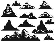 Mountain silhouettes Royalty Free Stock Image